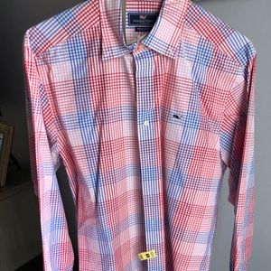 Other - Vineyard vines gingham whale shirt